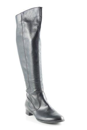 Paul Green Botas de equitación negro estilo sencillo