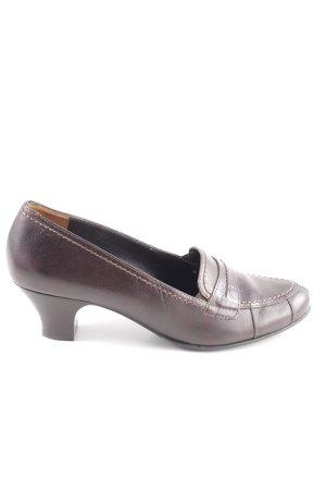 Paul Green Chaussures Richelieu brun élégant