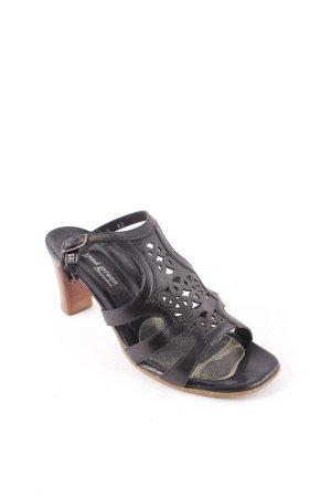 Paul Green Riemchen-Sandaletten schwarz-braun Casual-Look