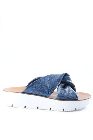 Paul Green Sabot blu-bianco stile casual