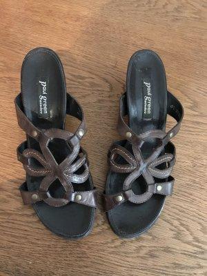 Paul Green Sandaletten mit Keilabsatz Gr. 40.