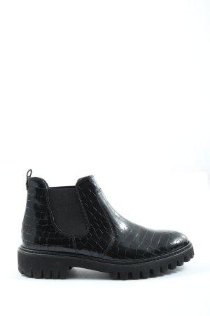 Paul Green Wciągane buty za kostkę czarny W stylu casual
