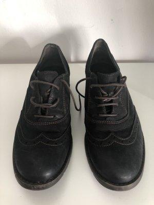 Paul Green, Schnürschuhe Oxford, dunkelbraun, Gr. 5,5, sehr selten getragen