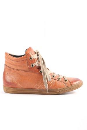Paul Green Sneakers met veters licht Oranje atletische stijl