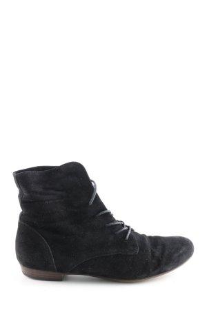 Paul Green Bottes à lacets noir style d'affaires
