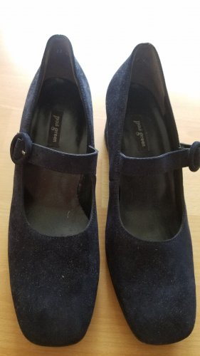 Paul Green Mary Jane Schoenen donkerblauw Suede