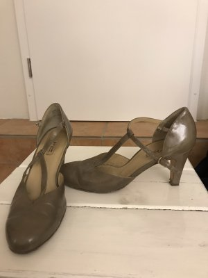 Paul Green Escarpins Mary Jane beige clair-gris brun