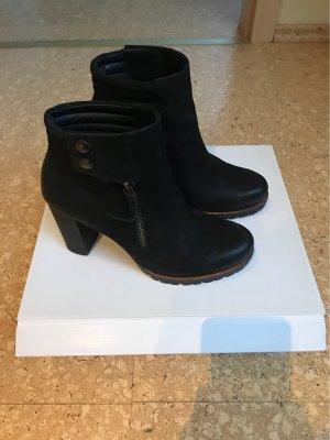 Paul Green Zipper Booties black brown-black