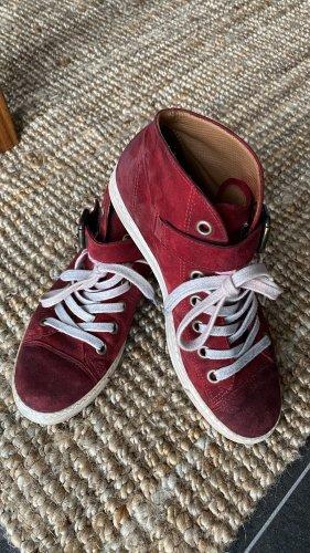 Paul Green High Top Sneaker dark red