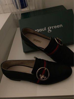 Paul Green München Mocassins noir cuir