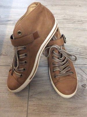 Paul Green Sneaker Gr 38 braun neuwertig