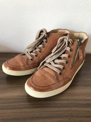 Paul Green Sneaker Schuhe Uk 5,5 Gr 38,5Cognac Braun