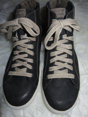 Paul Green Sneaker schwarzes Nubukleder wie neu ! Größe 61/2=39,5 !