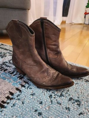Paul Green Ankle Boots anthracite-grey brown