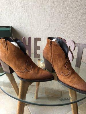 Paul Green Botines estilo vaquero marrón-coñac