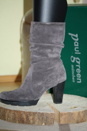 PAUL GREEN Stiefelette Stiefel US 8,5 39 grau Leder nP 170