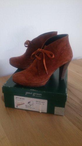 Paul Green Stivaletto stringato marrone-cognac