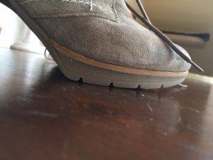 Paul Green Bottines à plateforme taupe-gris brun cuir