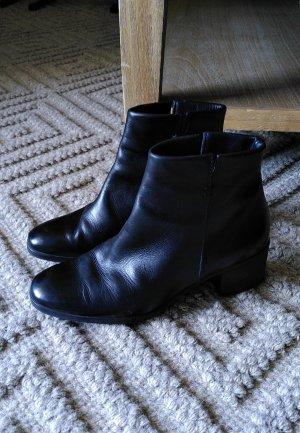 Paul Green Stiefeletten 37 schwarz Leder Echtleder 5 cm Absatz