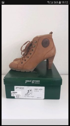 Paul Green Lace-up Booties grey brown-light brown