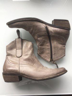 Paul Green Botines estilo vaquero gris-marrón grisáceo