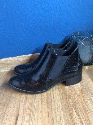 Paul Green Wciągane buty za kostkę czarny