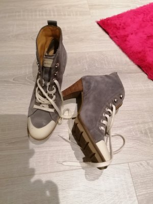 Paul Green Lace-up Booties light grey-grey