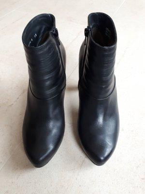Paul Green Bottines à plateforme noir cuir