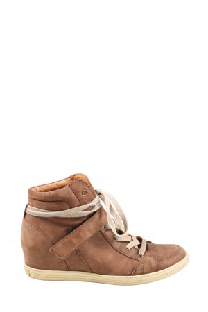 Paul Green Wedge Sneaker brown casual look