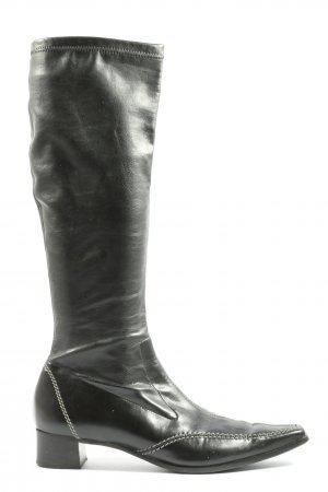 Paul Green Botas de pantorrilla ancha negro look casual