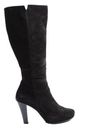 Paul Green Wide Calf Boots black casual look