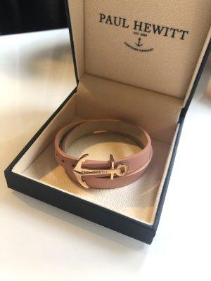 Paul Hewitt Bracelet en cuir saumon-rose
