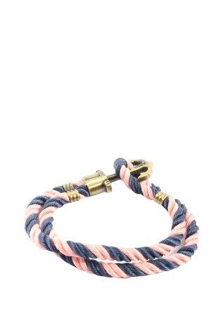 Paul Hewitt Armband pink-blau Streifenmuster Casual-Look