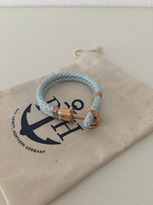 paul hewitt armband in hellblau/roségold