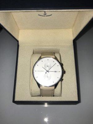 Paul Hewitt Reloj analógico beige claro-crema
