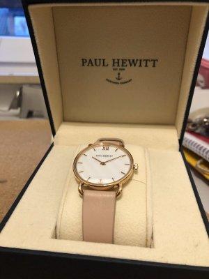 Paul Hewitt Montre avec bracelet en cuir or rose