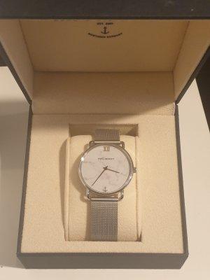 Paul Hewitt Reloj con pulsera metálica blanco-color plata