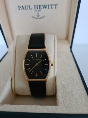 Paul Hewitt Watch With Leather Strap black-gold-colored