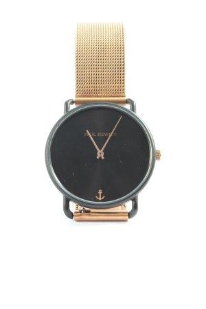 Paul Hewitt Uhr mit Metallband goldfarben Casual-Look