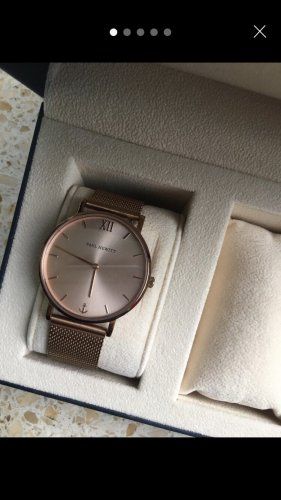 Paul Hewitt Zegarek z metalowym paskiem w kolorze różowego złota