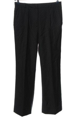 Paul & Joe Pantalon de costume noir-blanc imprimé allover style décontracté