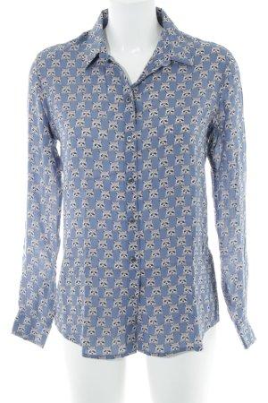 Paul & Joe Langarm-Bluse blau Motivdruck Casual-Look