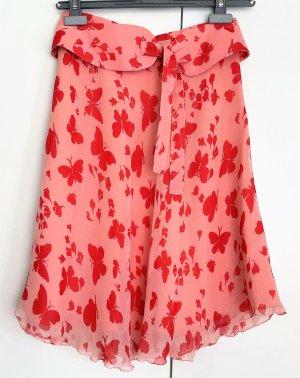Paul & Joe High Waist Skirt salmon-apricot silk