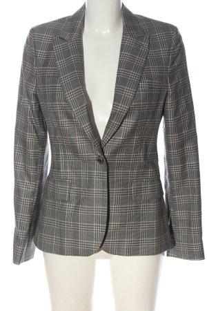 Paul & Joe Long Blazer light grey-black check pattern business style