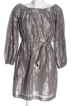 Paul & Joe Minikleid wollweiß-silberfarben Streifenmuster Elegant