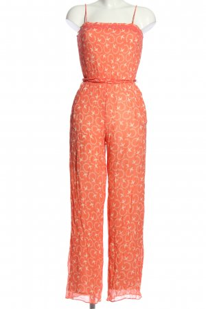 Paul & Joe Sister Jumpsuit pink-weiß Motivdruck Casual-Look