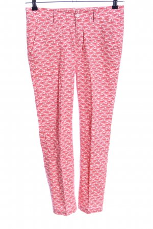 Paul & Joe Sister Stoffhose weiß-pink Allover-Druck Business-Look