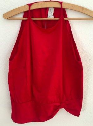 Paul & Joe Sleeveless Blouse red cotton