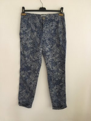 Paul Smith Pantalone chino bianco-blu fiordaliso Cotone