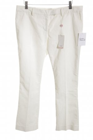 Paul Smith Pantalón de pana blanco look casual